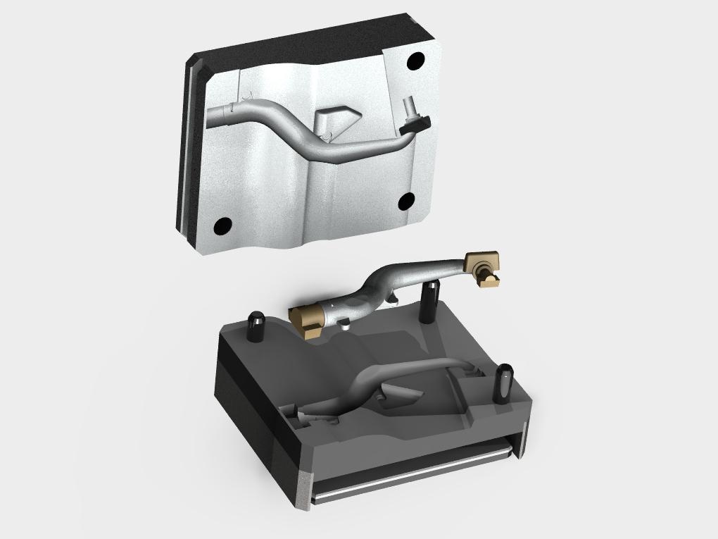WF Modelação e Ferramentaria - Coquilhas - Coquilha para Tubo Coletor