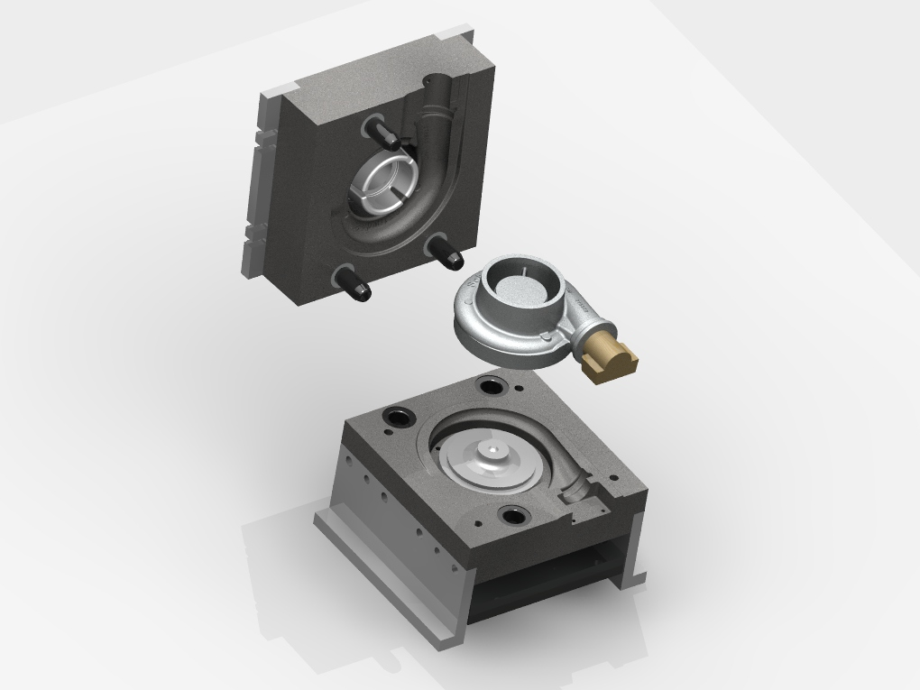 WF Modelação e Ferramentaria - Coquilhas - Coquilha para Turbina