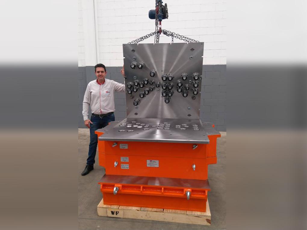 WF Modelação e Ferramentaria - Caixas de Macho - Caixa de Macho para sopradora Hottinger
