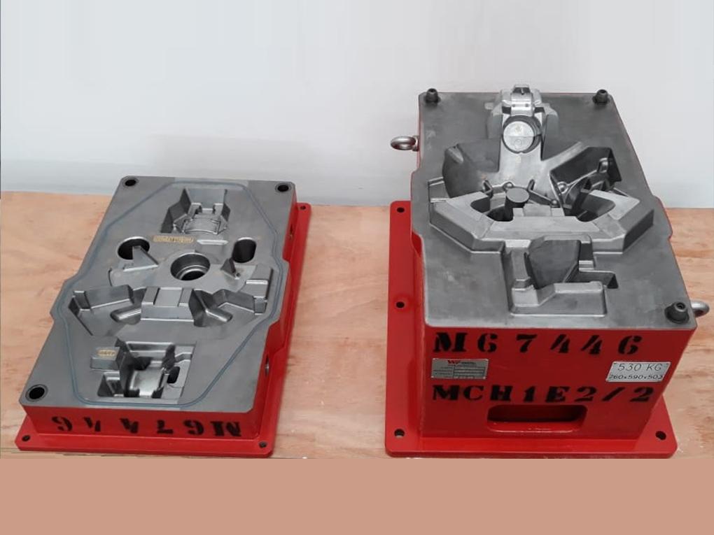 WF Modelação e Ferramentaria - Caixas de Macho - Caixa de Macho para sopro 25 Lts horizontal